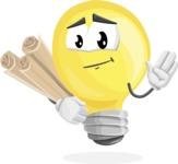 Light Bulb Cartoon Vector Character - Making Plans