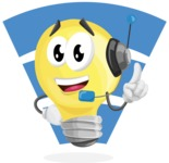 Light Bulb Cartoon Vector Character - Smart Light Bulb With Wireless Connection Illustration