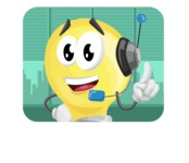 Light Bulb Cartoon Vector Character - Working in Office Illustration