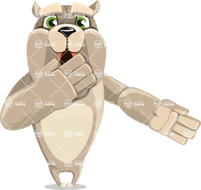 Cute English Bulldog Cartoon Vector Character AKA Rocky the Bulldog - Oops