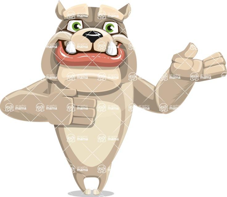 Cute English Bulldog Cartoon Vector Character AKA Rocky the Bulldog - Showcase