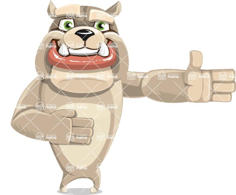 Cute English Bulldog Cartoon Vector Character AKA Rocky the Bulldog - Show