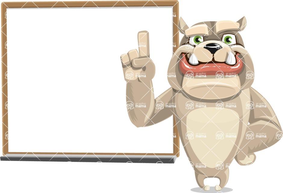 Cute English Bulldog Cartoon Vector Character AKA Rocky the Bulldog - Presentation 3