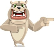 Cute English Bulldog Cartoon Vector Character AKA Rocky the Bulldog - Point 2