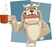 Cute English Bulldog Cartoon Vector Character AKA Rocky the Bulldog - Shape 8