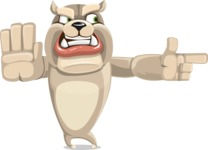 Cute English Bulldog Cartoon Vector Character AKA Rocky the Bulldog - Direct Attention 2