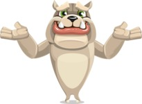 Cute English Bulldog Cartoon Vector Character AKA Rocky the Bulldog - Sorry