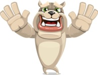Cute English Bulldog Cartoon Vector Character AKA Rocky the Bulldog - Hello