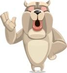 Cute English Bulldog Cartoon Vector Character AKA Rocky the Bulldog - Bored 2