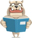 Cute English Bulldog Cartoon Vector Character AKA Rocky the Bulldog - Book 1