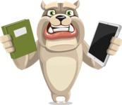 Cute English Bulldog Cartoon Vector Character AKA Rocky the Bulldog - Book and iPad