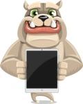 Cute English Bulldog Cartoon Vector Character AKA Rocky the Bulldog - iPad 1