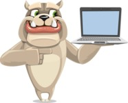 Rocky the Bulldog - Laptop 3