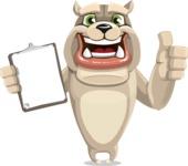 Cute English Bulldog Cartoon Vector Character AKA Rocky the Bulldog - Notepad 1