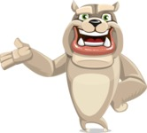 Cute English Bulldog Cartoon Vector Character AKA Rocky the Bulldog - Showcase 2