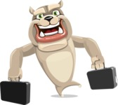 Cute English Bulldog Cartoon Vector Character AKA Rocky the Bulldog - Briefcase 3