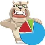 Cute English Bulldog Cartoon Vector Character AKA Rocky the Bulldog - Chart