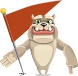Cute English Bulldog Cartoon Vector Character AKA Rocky the Bulldog - Checkpoint