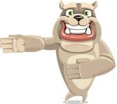 Cute English Bulldog Cartoon Vector Character AKA Rocky the Bulldog - Show 2