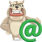 Cute English Bulldog Cartoon Vector Character AKA Rocky the Bulldog - Email