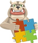 Rocky the Bulldog - Puzzle
