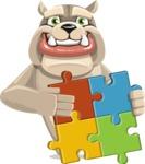 Cute English Bulldog Cartoon Vector Character AKA Rocky the Bulldog - Puzzle