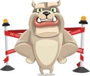 Cute English Bulldog Cartoon Vector Character AKA Rocky the Bulldog - Under Construction 2