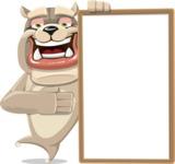 Cute English Bulldog Cartoon Vector Character AKA Rocky the Bulldog - Presentation 4