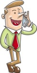 Businessman Talking on the Phone Illustration