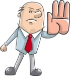 Angry Businessman Making Stop Gesture