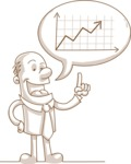Businessman Pointing at Graph Chart