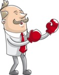 Businessman Boxing Illustration