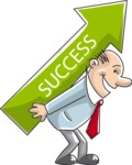 Businessman Success Arrow