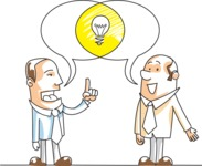 Businessmen Talking About Idea