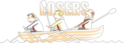 Losers Businessmen on Boat