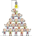 Business Pyramid Teamwork