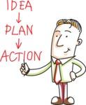 Businessman with Idea Plan Action