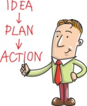 Businessman Idea Plan Action