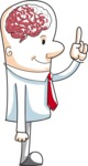Cartoon Brainy Businessman