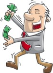 Cheerful Businessman with Money