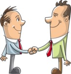 Businessmen Handshaking Full Color