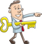 Businessman With a Key Illustration