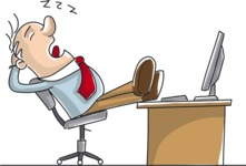 Businessman Sleeping in Office Chair