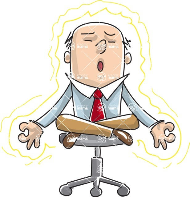Business vector characters illustrated in the popular outline design trend - a rich collection from GraphicMama - Businessman Doing Meditation