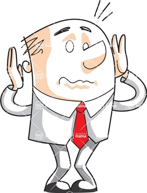 Business vector characters illustrated in the popular outline design trend - a rich collection from GraphicMama - Cartoon Businessman in a Panic