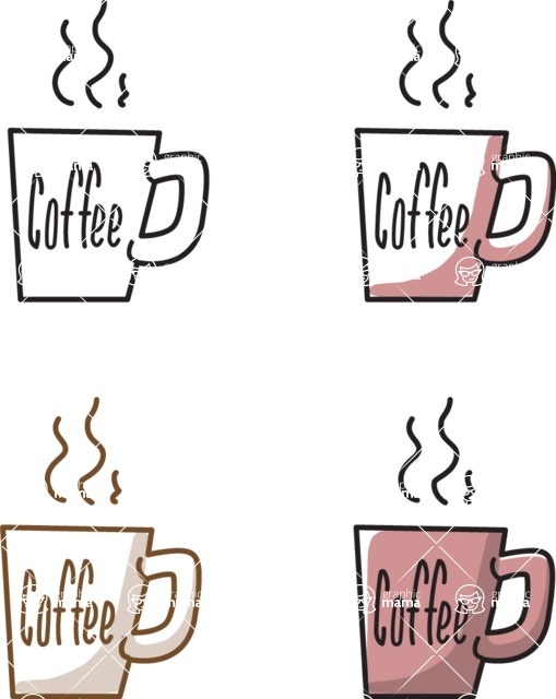 Business vector characters illustrated in the popular outline design trend - a rich collection from GraphicMama - Coffee Mugs