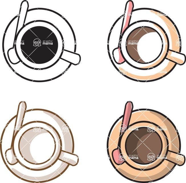 Business vector characters illustrated in the popular outline design trend - a rich collection from GraphicMama - Coffee Cups