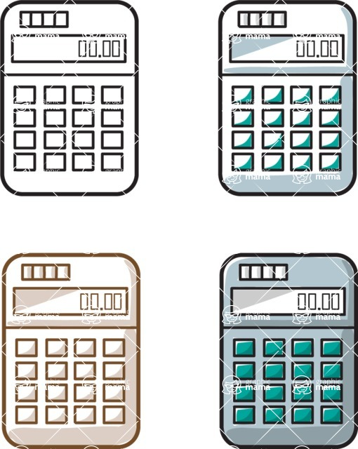 Business vector characters illustrated in the popular outline design trend - a rich collection from GraphicMama - Calculators