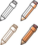 Business vector characters illustrated in the popular outline design trend - a rich collection from GraphicMama - Pencils