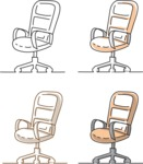 Business vector characters illustrated in the popular outline design trend - a rich collection from GraphicMama - Office Chair